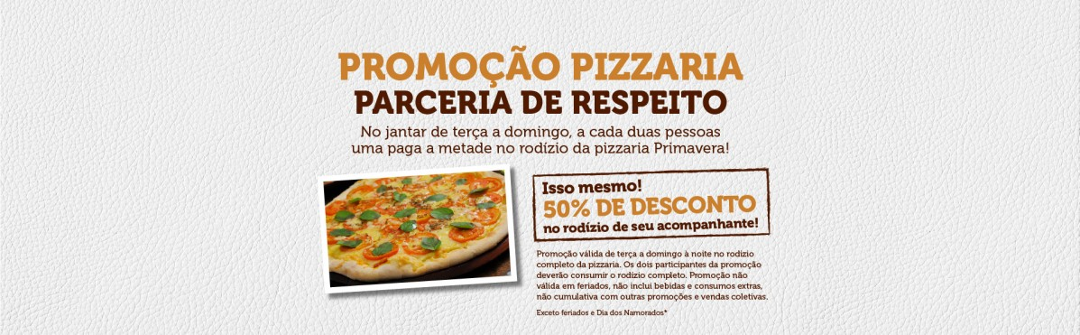 Promo Perceria Pizza
